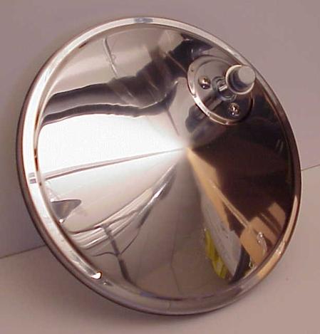 "7"" Convex Truck Mirror Stainless Steel Off Set Mount"