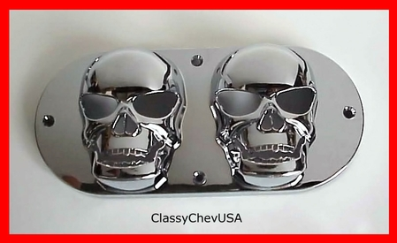 Double Extra Small Skull Tail Light Lense Cover - 1P