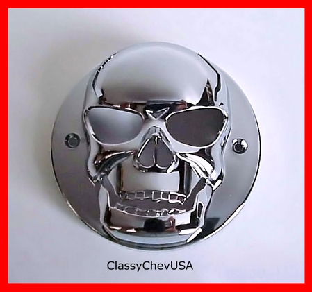 Extra Small chrome plastic Skull Tail Light Lense Cover 1P