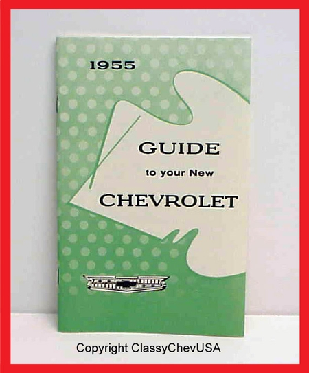 """1955 """"Guide to Your New Chevrolet"""" Manual"""