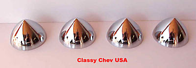 4 Bullet Nose Hub Cap Centers - C8059