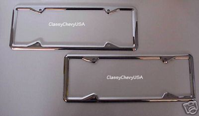 1920-28 License Plate Frames - Pair