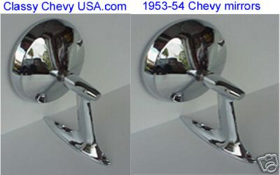 1953-54 Bel Air Outside Mirrors - Pair