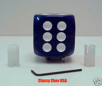 Blue Dice Gear Shift Knob 1 7/8""