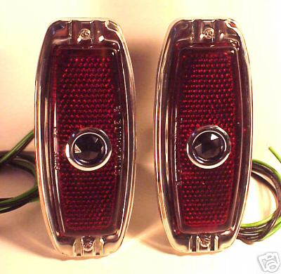 1941-1948 Chevrolet Red BLUE DOT Tail Light Assemblies - PAIR