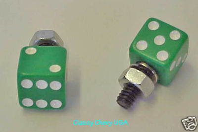 Green License Plate Bolts - 2 Pieces