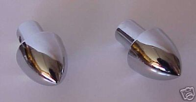 Chrome Bullet Radio or Dash Knobs - 2 Pieces