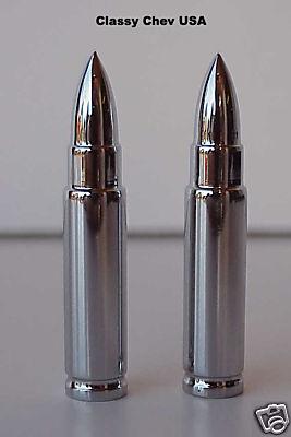Long Bullet Valve Stem Caps - 2 Pieces