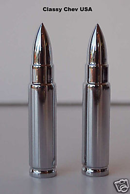 Long Bullet Valve Stem Caps - 2 Pieces