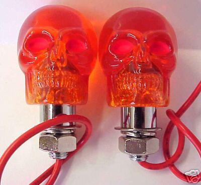 AMBER Skull Marker Lights