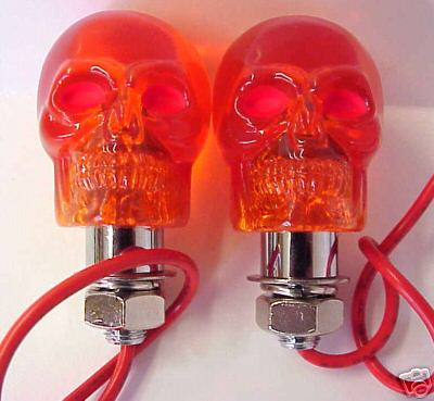 AMBER Skull Marker Lights