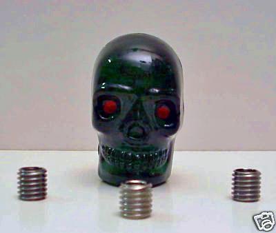 Large GREEN Skull Shift Knob