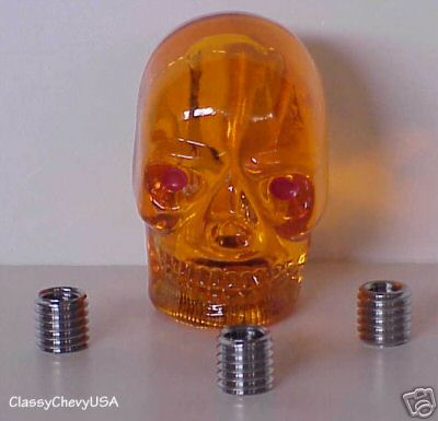 Large AMBER Skull Shift Knob