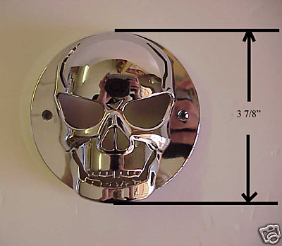 Small Chromed Plastic Skull Tail Light Lense Cover