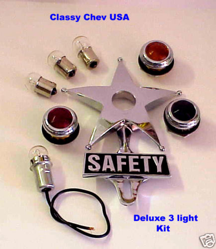 Deluxe Safety Star License Plate Topper Kit