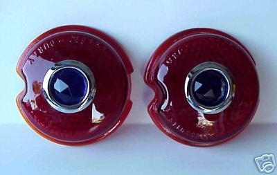 1939 Chevrolet Red Blue Dot Tail Light Lense