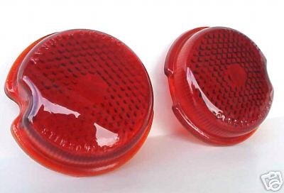 1939 Chevrolet Car Red Glass Tail Light Lenses