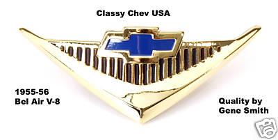 1955 56 Chevrolet Chevy Car Bel Air V8 Horn Cap Emblem