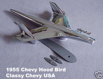 1955 Chevrolet Chevy Car Bel Air Hood Bird Ornament 210 150