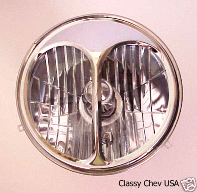 "7"" Cat Eye Headlight Covers - Chrome - Pair"