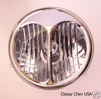 "7"" Cat Eye Headlight Covers - Chrome - Pair"