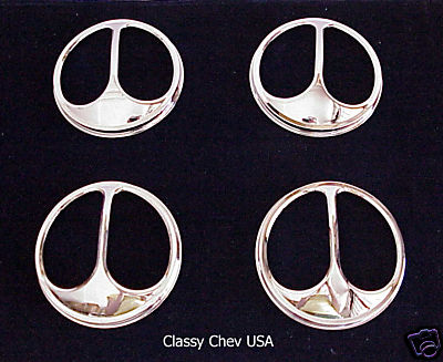 "Quad Cat Eye 5 3/4"" Headlight Covers Chrome - 4 Pieces"
