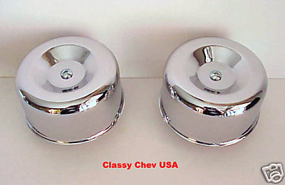 Chrome Standard Beehive Air Cleaner - 2 BBL 2 5/8 - 2 Pieces