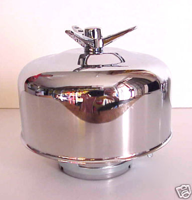 "Chrome Winged Bullet Air Cleaner - 1 BBL 2 5/6"" - 1 Piece"