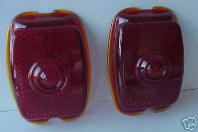 1940-53 Chevrolet GMC Truck Red Glass Tail Light Lenses - Pair
