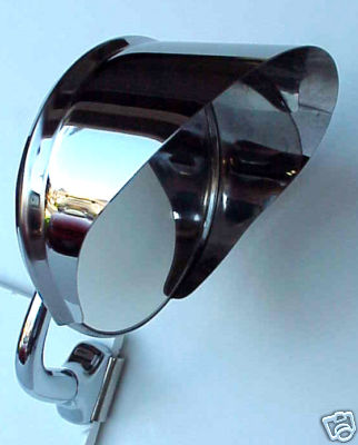 Polished Stainless Steel Mirror Visor
