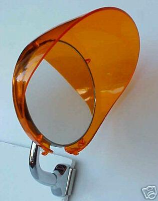 "Plastic Amber 4"" Mirror Visor Shade"
