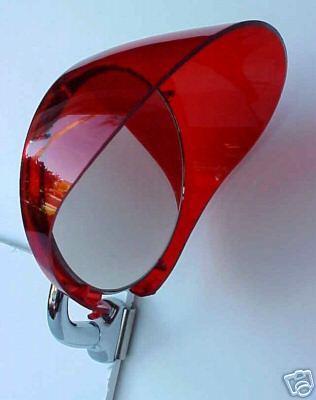 "Plastic Red 4"" Mirror Visor Shade"