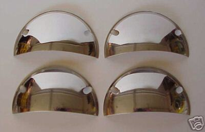 "Stainless Steel Half Moon Headlight Covers 5 3/4"" - Set of 4"