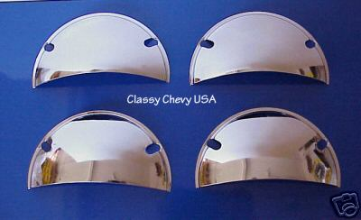 "Half Moon Headlight Covers 5 3/4"" - CHROME - Set of 4"