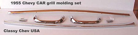 1955 Chevrolet 4 Pc Chrome Grill Mouldings