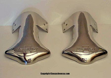 Chevrolet Bowtie Exhaust Deflector Tip - PAIR