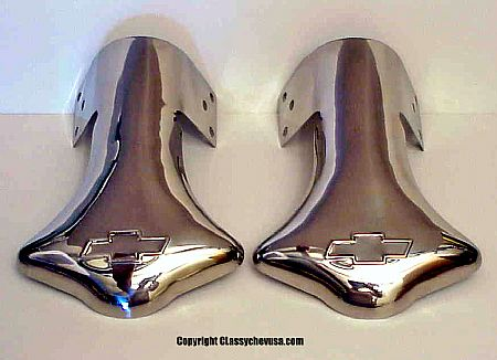 Regular Bowtie Logo Exhaust Deflector Tip - PAIR