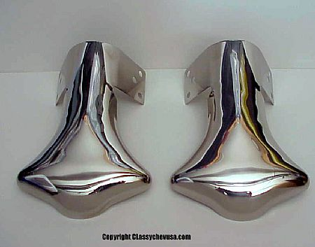 Plain Exhaust Deflector Tip - PAIR