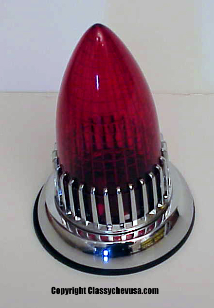 1959 Cadillac Red Tail Light Assembly with 50s Bezel + extra bulbs