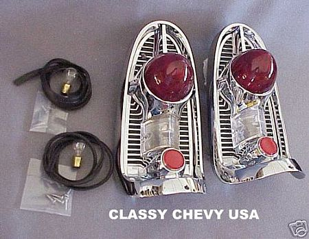 1956 Chevy Tail Light Housings Kit