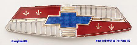 1954 Chevy Plastic Hood Emblem Insert Only - TP1010