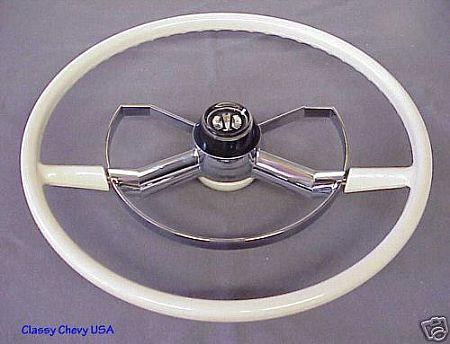 1950 52 Chevrolet Butterfly Steering Wheel White