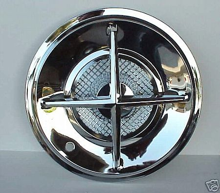 "15"" Chromed Steel Crossbar Hub Caps Set of 4"