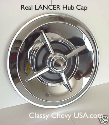 "15"" Chromed Steel Lancer Hub Caps - Set of 4"
