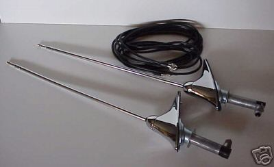 1958 Chevrolet Impala Rear Antennas - 2 Pieces