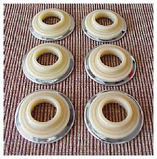 1946-1948 Chevrolet Car Escutcheons - 6 pieces