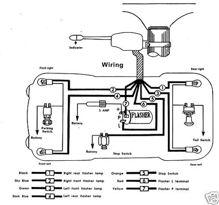 wiring harness for trailer kit with Universal Turn Signal Wiring Diagram on Dodge 7 Way Trailer Wiring Diagram besides 361181947242 moreover 721d2 2001 in addition Wiring Diagram 7 Way Trailer Plug furthermore Universal Air Suspension Switches Diagram.