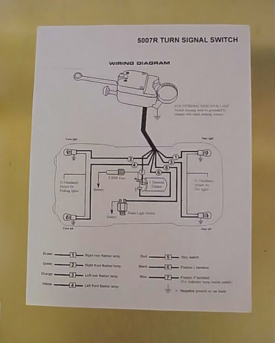 heavy duty universal turn signal directional switch kit grote universal turn signal switch wiring diagram