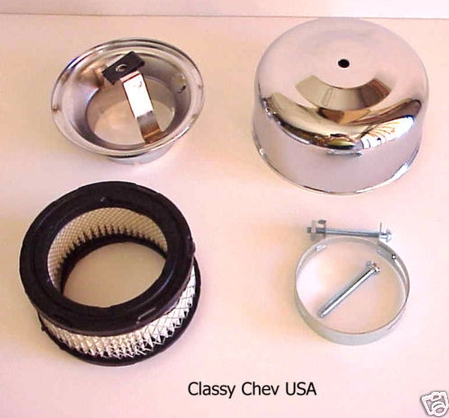 """Chrome Bullet AIR CLEANER NEW BEE HIVE 2 bbl 2 5/8"""" 1p"""