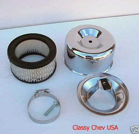 """Chrome STD AIR CLEANER NEW BEE HIVE 2 bbl 2 5/8"""" 1p"""